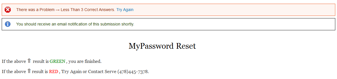 MyPassword Enroll Fail